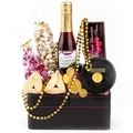 Purim Lofty Leather Valet & Coin Counter Gift Arrangement