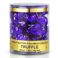 Peanut Butter Filled Twist Wrap Chocolate Truffles - 30CT Tub