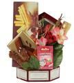 Velvet Burgundy Purim Basket