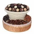 Round White Chocolate & Nut Gift Basket