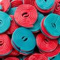 Red & Blue Spiral Licorice - 2.2 LB Bag