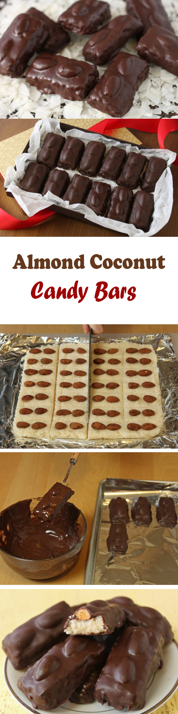 Almond Coconut Candy Bars