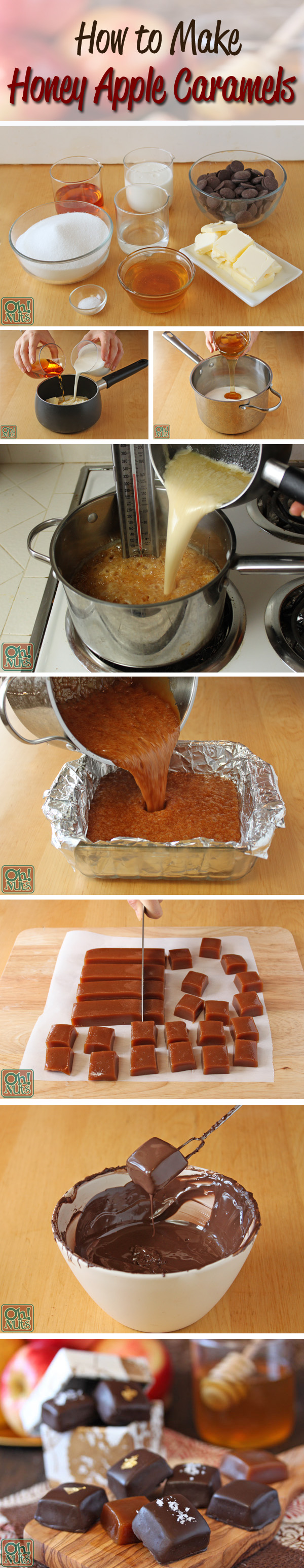 How to Make Honey Apple Caramels | OhNuts.com