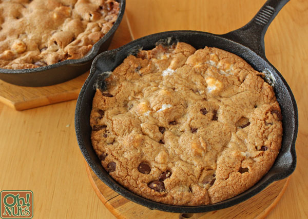 S'mores Rocky Road Skillet Cookies | OhNuts.com