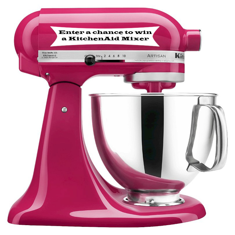 Enter a chance to win a KitchenAid Mixer