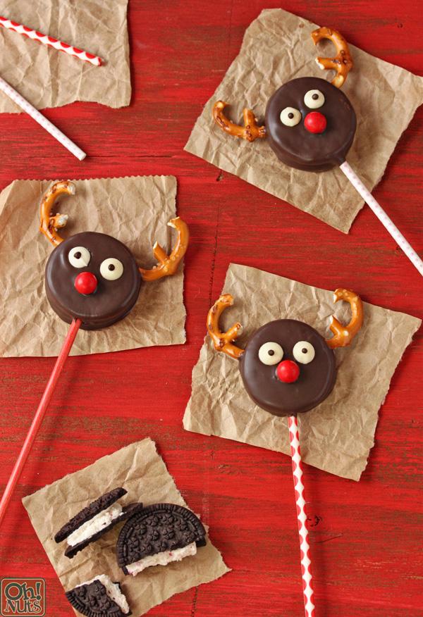 Oreo Reindeer Pops Oh Nuts Blog