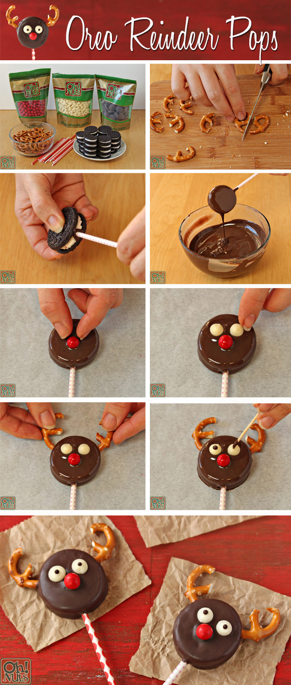 How to Make Oreo Reindeer Pops | OhNuts.com