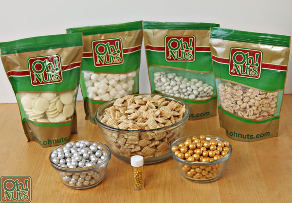 Silver and Gold Cereal Snack Mix | OhNuts.com