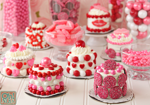 Easy Valentine s Day Mini Cakes Oh Nuts Blog