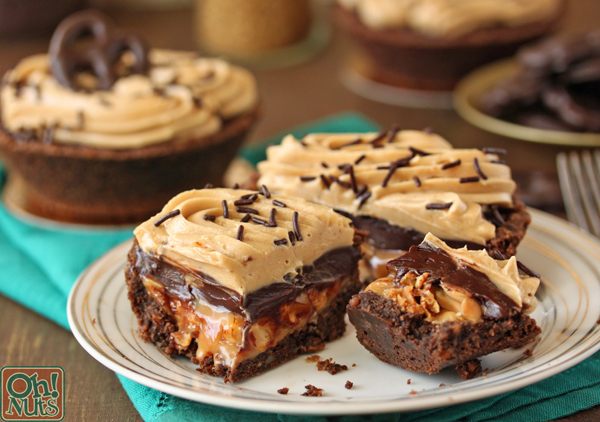 Epic Chewy Gooey Candy Bar Pies