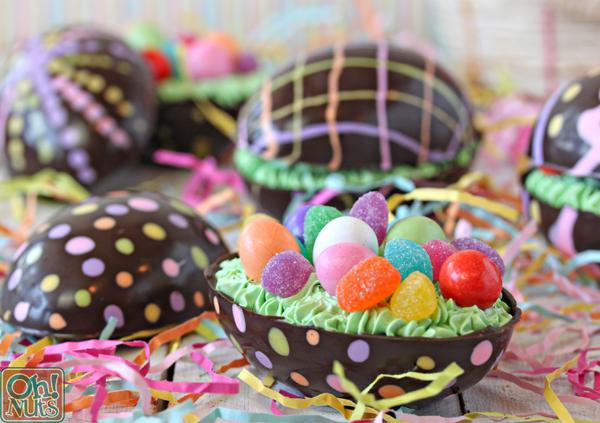 Brownie-Riempito di cioccolato uova di Pasqua |  OhNuts.com