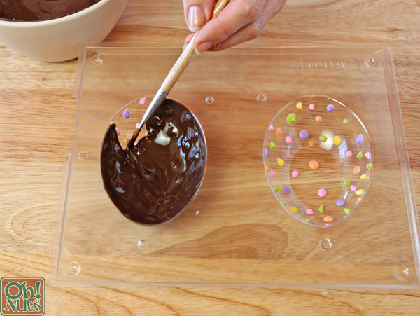 Brownie-Filled Chocolate Easter Eggs | OhNuts.com