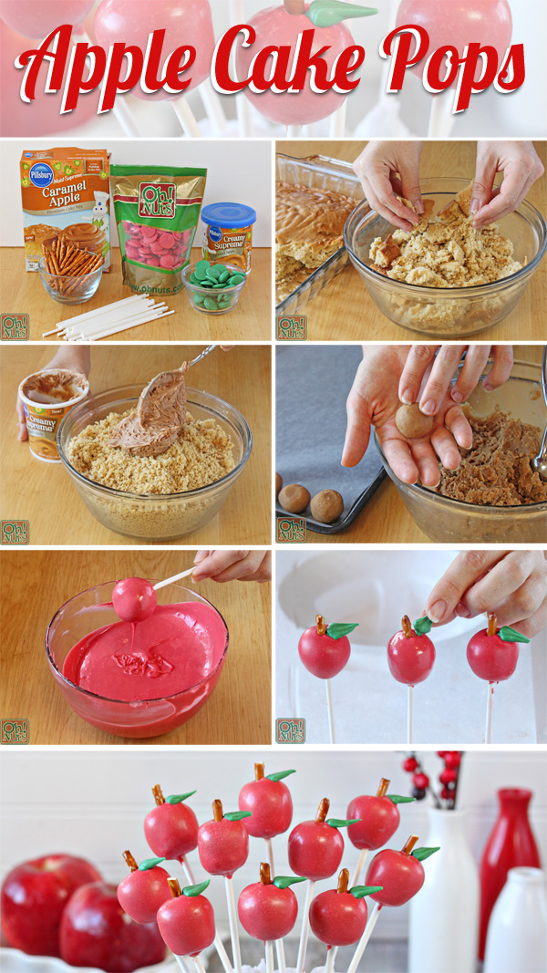 Apple Cake Pops | From OhNuts.com