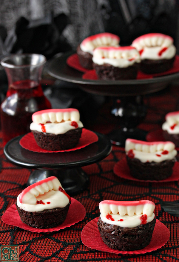 vampire bite brownies from ohnutscom