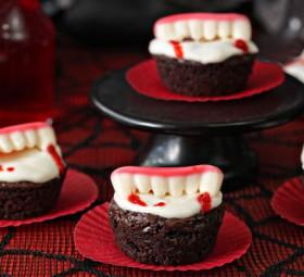 Vampire Bite Brownies Halloween Recipe