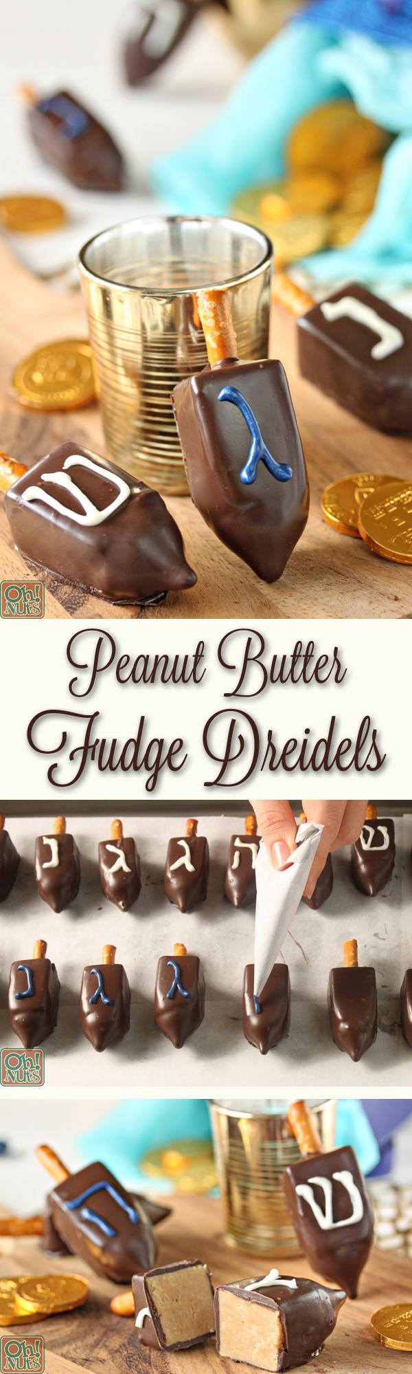 Peanut Butter Dreidels | From OhNuts.com