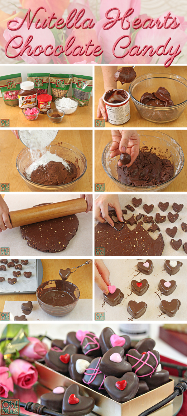 How to Make Nutella Candy Hearts | From OhNuts.com