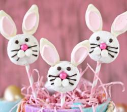 Easter Bunny Doughnut Pops