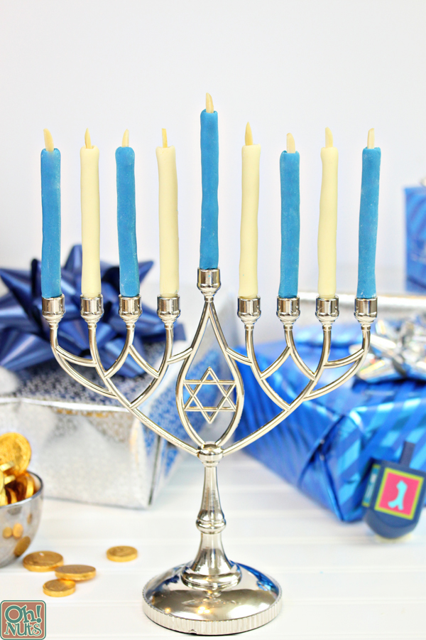 Edible Menorah Candles for Hanukkah | From OhNuts.com