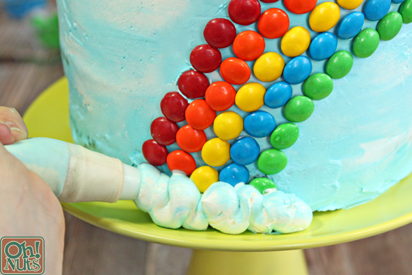 Candy Rainbow Cake | From OhNuts.com