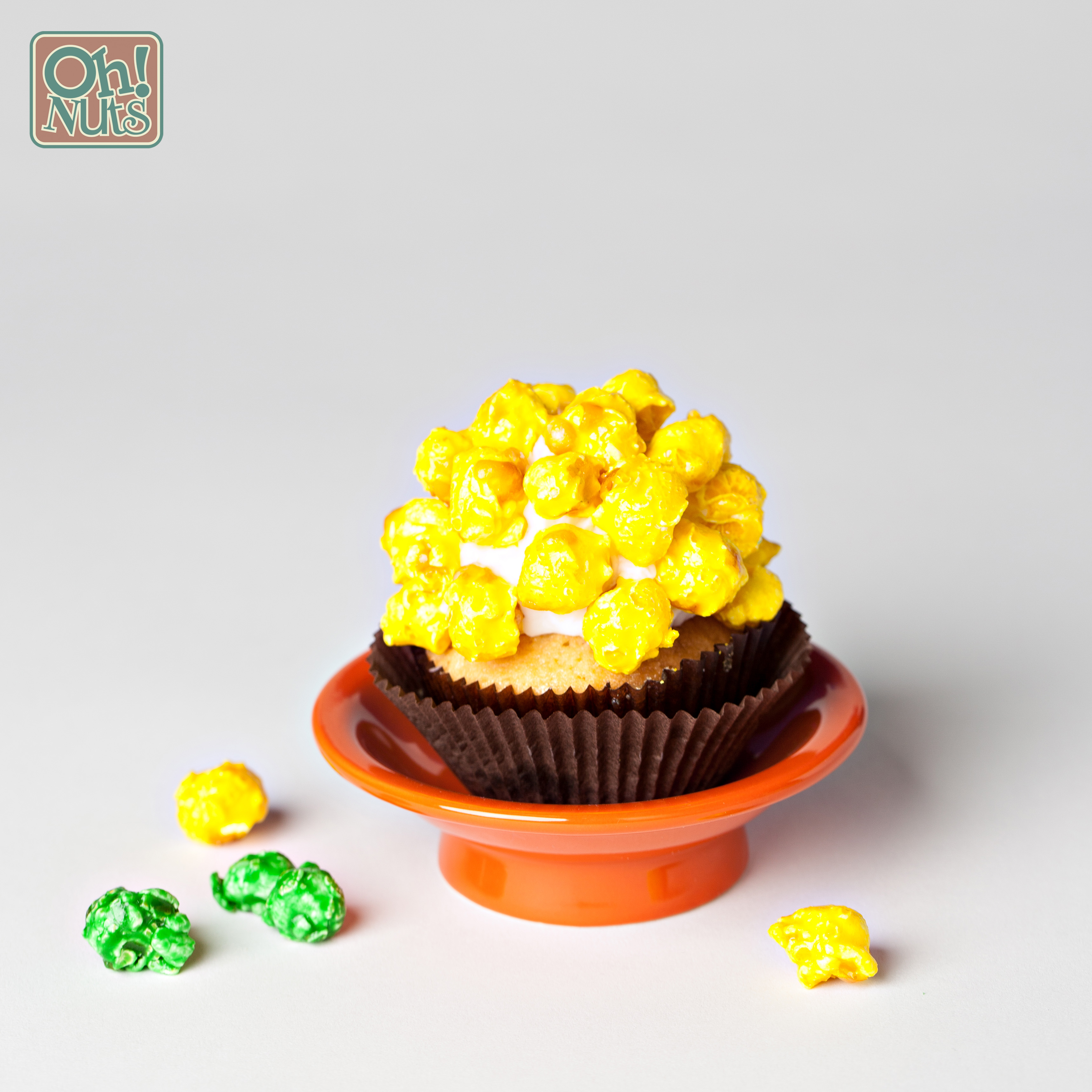 Popcorn Cupcakes Recipe From Scratch- Caramel | Oh Nuts Blog