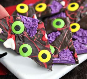 Monster Chocolate Bark – Great Halloween Candy Idea
